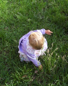 Roni in grass