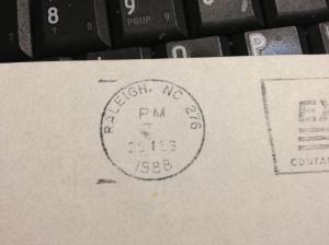 Letter 1988 postmark